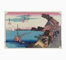Kanagawa - Hiroshige Ando - 1833 - woodcut One Piece - Short Sleeve