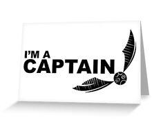 I'm a Captain Black Greeting Card