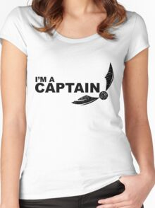 I'm a Captain Black Women's Fitted Scoop T-Shirt