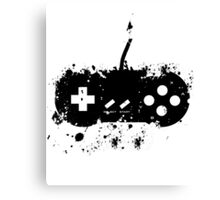 Paint Splat SNES Controller Canvas Print