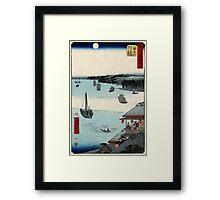 Kanagawa - Hiroshige Ando - 1855 - woodcut Framed Print
