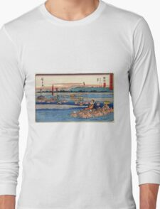 Kanaya - Hiroshige Ando - 1838 - woodcut Long Sleeve T-Shirt
