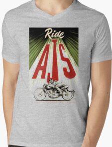 ride AJS Mens V-Neck T-Shirt