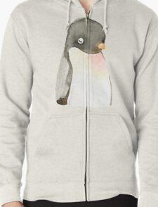 Mr. penguin Zipped Hoodie