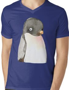 Mr. penguin Mens V-Neck T-Shirt