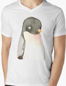 Mr. penguin Mens V-Neck T-Shirt