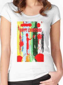 HAPPY CHRISTMAS 14 Women's Fitted Scoop T-Shirt