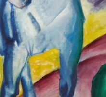 Franz Marc - Blue Horse  1911 German Expressionism.  Blue Horse . Franz Marc Sticker