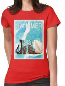 The Swimmer  Womens Fitted T-Shirt