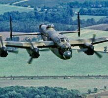 BBMF Lancaster PA474 over Lincolnshire Sticker