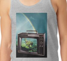 Tune in for more adventures, vintage collage Tank Top