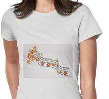 Music To My Eyes Womens Fitted T-Shirt