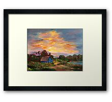 country morning  Framed Print
