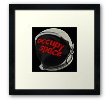 occupy space helmit Framed Print