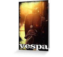 VESPA : PIAGIO Greeting Card