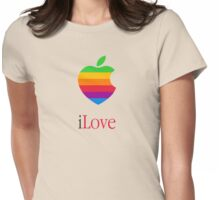 iLove  [for light shirts] Womens Fitted T-Shirt