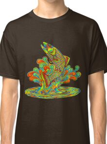 Psychedelic Rainbow Trout Classic T-Shirt