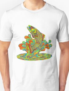 Psychedelic Rainbow Trout Unisex T-Shirt