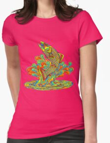 Psychedelic Rainbow Trout Womens Fitted T-Shirt