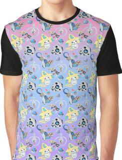 Steel Types - Pokemon - Patterned Pastels Rainbow Graphic T-Shirt