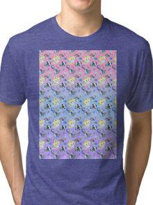 Steel Types - Pokemon - Patterned Pastels Rainbow Tri-blend T-Shirt