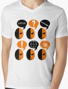 Deathstroke Moods Mens V-Neck T-Shirt