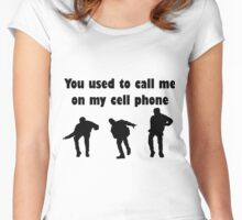 Call me on my cell phone 2 Women's Fitted Scoop T-Shirt
