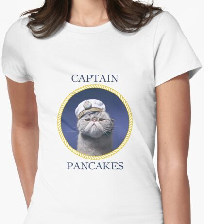 Captain Pancakes Womens Fitted T-Shirt