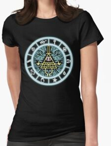 Gravity Falls Bill Cipher Wheel Womens Fitted T-Shirt