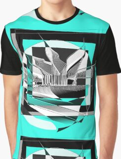 Contemporary Abstract : 3 : B & W Graphic T-Shirt