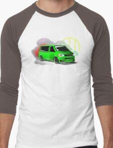 Lime Green VW T5 Stanced Men's Baseball ¾ T-Shirt