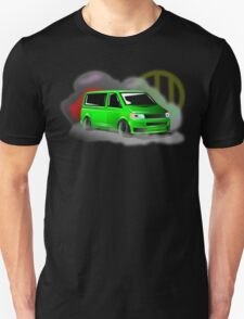 Lime Green VW T5 Stanced Unisex T-Shirt