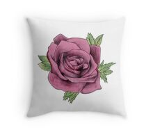 Watercolour Rose Throw Pillow