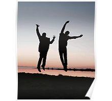 sunset jump Poster