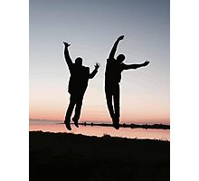 sunset jump Photographic Print