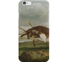 George Stubbs - Hound Coursing a Stag  1762 iPhone Case/Skin