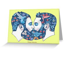 Beards in Love Greeting Card