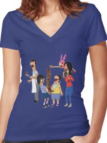 bobs burger Women's Fitted V-Neck T-Shirt