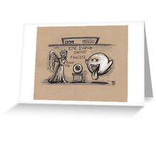Epic Staring Fight Greeting Card