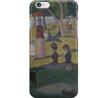 Georges Seurat  - A Sunday on La Grande Jatte -- 1884 1884 - 1886 iPhone Case/Skin