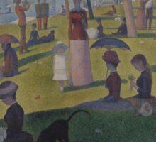 Georges Seurat  - A Sunday on La Grande Jatte -- 1884 1884 - 1886 Sticker