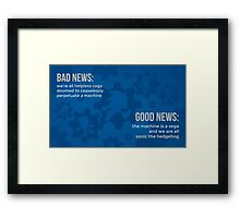 tweets by @dril - Sonic Framed Print