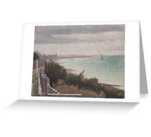 Georges Seurat  - Grandcamp, Evening 1885 Greeting Card