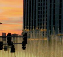 BELLAGIO FOUNTAINS from afar  ^ Sticker