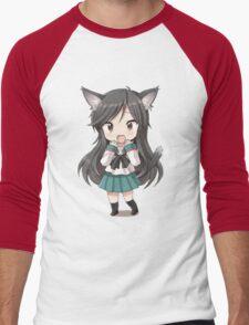 Anime cat girl chibi Men's Baseball ¾ T-Shirt