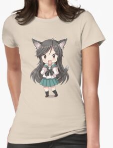 Anime cat girl chibi Womens Fitted T-Shirt