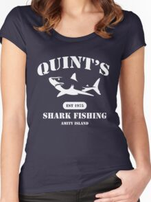 Quint's Shark Fishing Women's Fitted Scoop T-Shirt