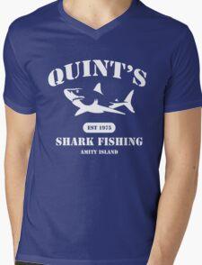 Quint's Shark Fishing Mens V-Neck T-Shirt