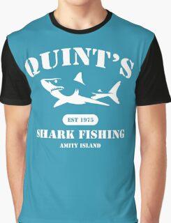 Quint's Shark Fishing Graphic T-Shirt