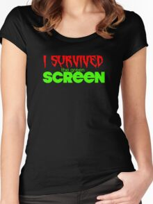 I Survived The Green Screen  Women's Fitted Scoop T-Shirt
